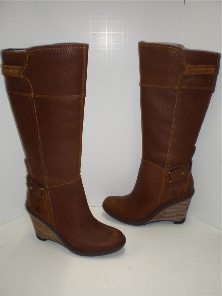 nib womens timberland stratham heights wedge boots